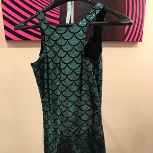 BLACK MILK MERMAID REVERSE DRESS TURQUOISE